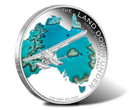 2014 Land Down Under Great Barrier Reef One Ounce Silver Coin