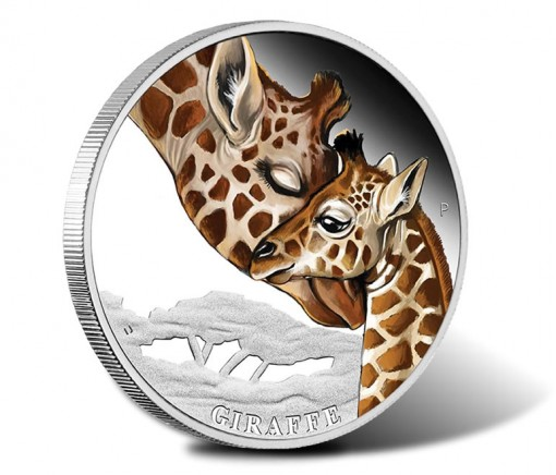 2014 Mother's Love - Giraffe Silver Proof Coin