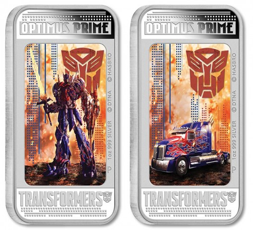 2014 Optimus Prime, Transformers 4 Lenticular Coin