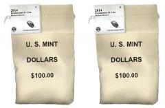 2014 P&D Herbert Hoover Presidential $1 Coins in bags