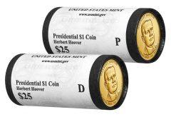 2014 P&D Herbert Hoover Presidential $1 Coins in rolls
