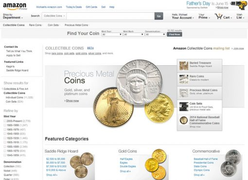 Amazon's Collectible Coins Store
