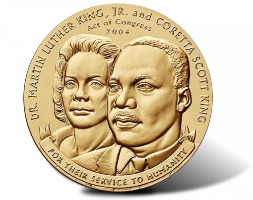 Martin Luther King, Jr. and Coretta Scott King Bronze Medal - Obverse