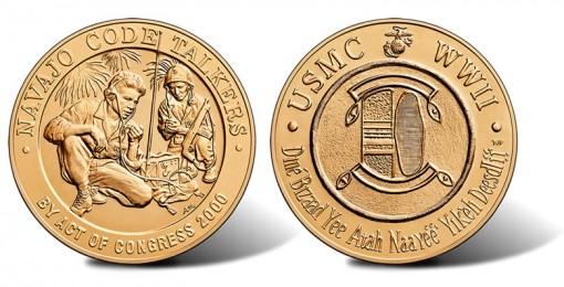 Navajo Code Talkers Bronze Medal