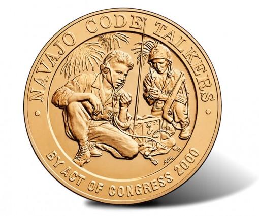 Navajo Code Talkers Bronze Medal - Obverse