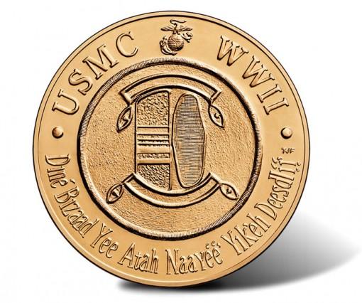 Navajo Code Talkers Bronze Medal - Reverse