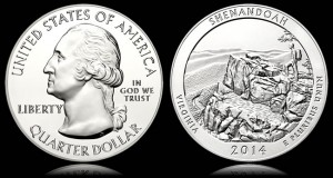 Shenandoah National Park Five Ounce Silver Bullion Coin