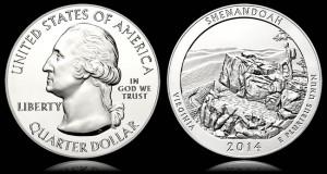 Shenandoah National Park Five Ounce Silver Bullion Coin