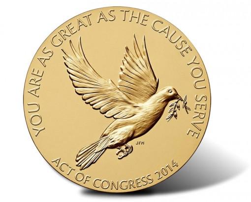 Shimon Peres Bronze Medal - Reverse