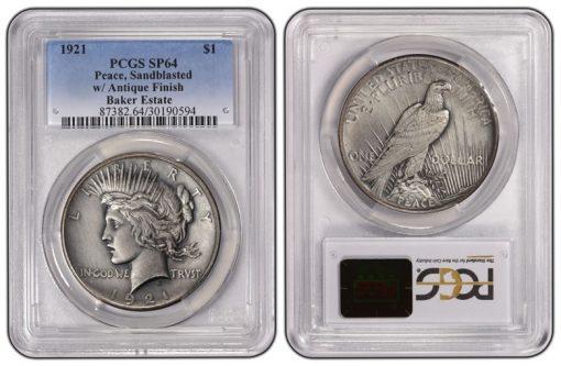 1921 Peace Dollar PCGS SP64