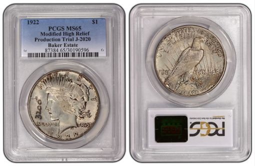 1922 Peace Dollar 3200 J-2020 PCGS MS65
