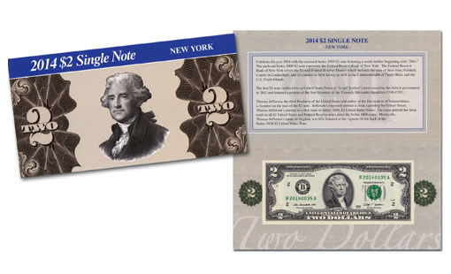 2014 $2 Single New York Note