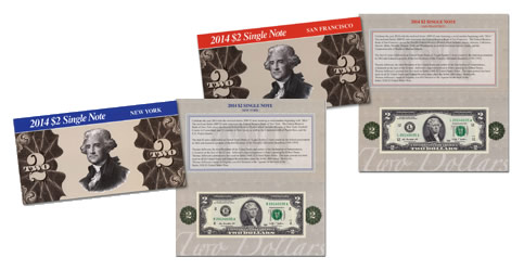 2014 $2 Single Note Collection
