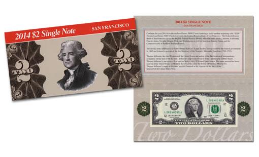 2014 $2 Single San Francisco Note