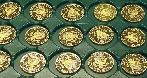 2014 50th Anniversary Kennedy Half-Dollar Gold Proof Coin - Tray View 5
