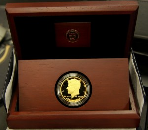 2014 50th Anniversary Kennedy Half-Dollar Gold Proof Coin in Case