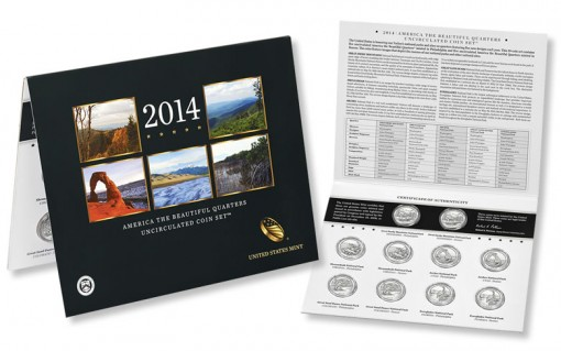 2014 America the Beautiful Quarters Uncirculated Set