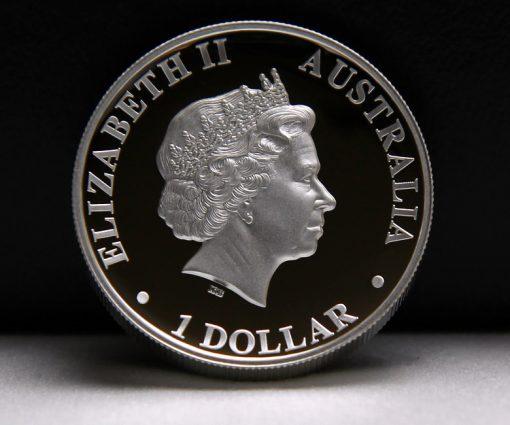 2014 Australian Kangaroo High Relief Silver Coin - Obverse