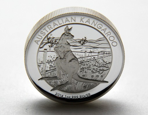 2014 Australian Kangaroo High Relief Silver Coin Standing on Edge