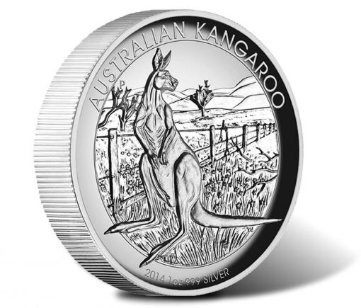 2014 Australian Kangaroo Silver Proof High Relief Coin