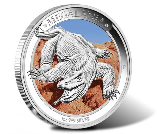 2014 Australian Megafauna Megalania Silver Proof Coin