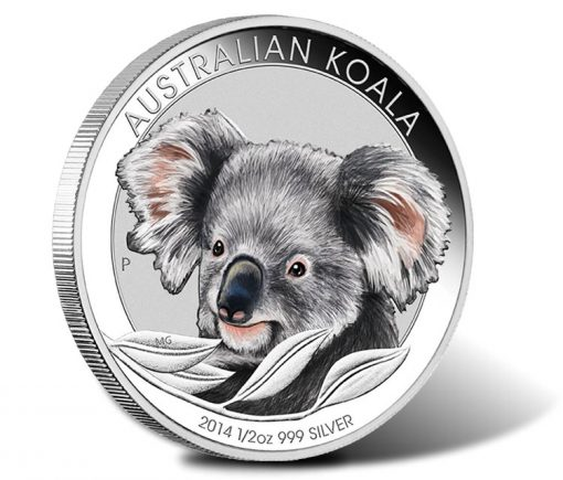 2014 Australian Outback Koala One Half Ounce Silver Coloured Coin