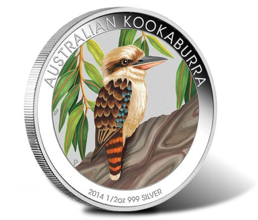 2014 Australian Outback Kookaburra One Half Ounce Silver Coloured Coin