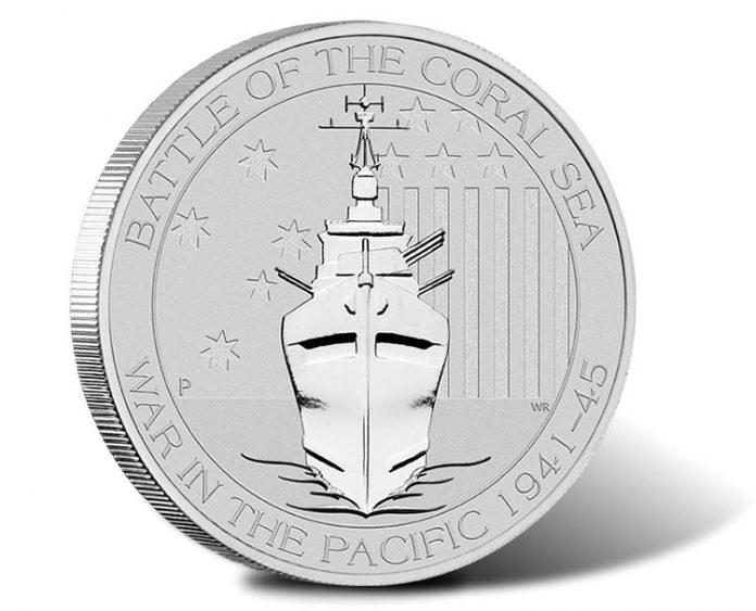 2014 Battle of the Coral Sea Silver Bullion Coin - Reverse