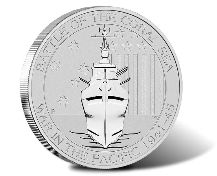 2015 Australian Silver Battle of the Coral Sea .999-1 Round BU 1//2 Oz