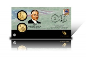 2014 Herbert Hoover $1 Coin Cover