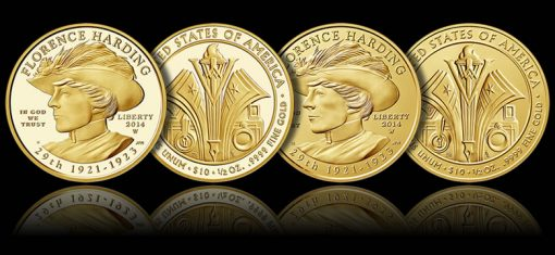 2014-W $10 Florence Harding First Spouse Gold Coins (Proof and Uncirculated)