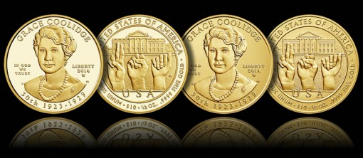 2014-W $10 Grace Coolidge First Spouse Gold Coins (Proof and Uncirculated)