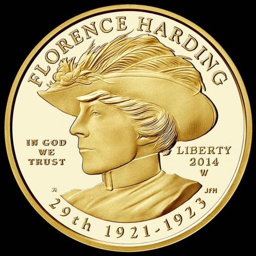 2014-W $10 Proof Florence Harding First Spouse Gold Coin - Obverse