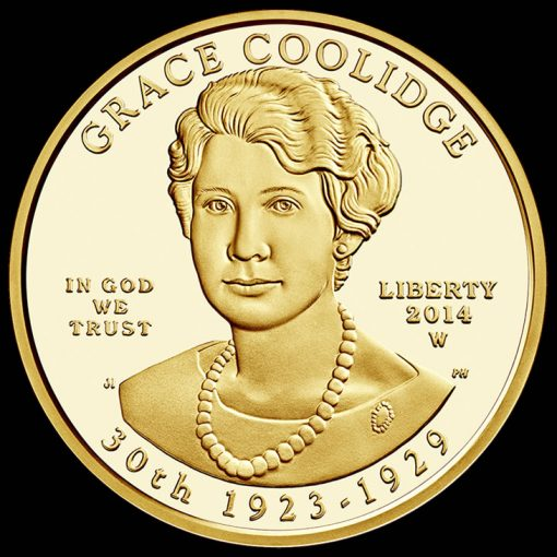 2014-W $10 Proof Grace Coolidge First Spouse Gold Coin - Obverse