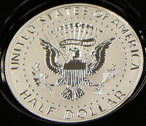 2014-W Reverse Proof 50th Anniversary Kennedy Half-Dollar Silver Coin - Reverse, Photo 1