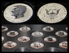 Photos of 2014-W Reverse Proof Kennedy Half-Dollar Silver Coins