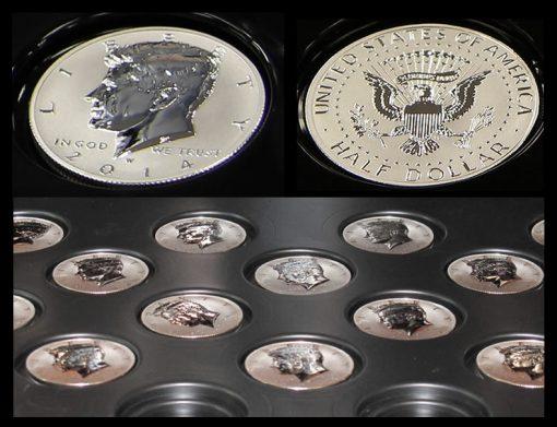 2014-W Reverse Proof Kennedy Half-Dollar Silver Coins