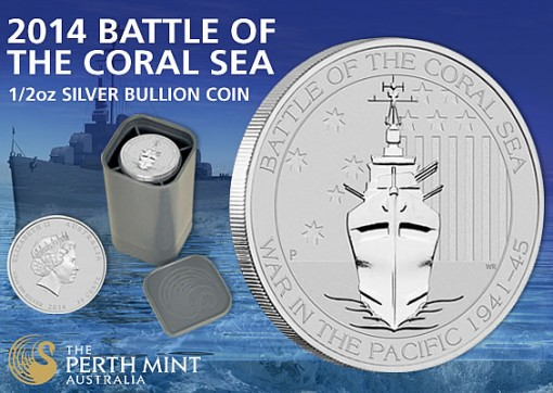 Battle of the Coral Sea Silver Bullion Coin Promotion