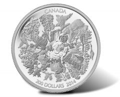 Canadian 2014 $200 Towering Forests Silver Coin for $200