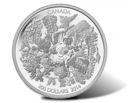 Canadian 2014 $200 Towering Forests Silver Coin