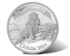 2014 $5 Lion on the Mountain Silver Coin Third in Banknote Series