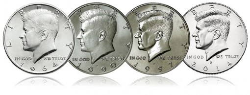 Changes in Design of Kennedy Half-Dollars