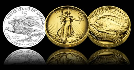 Eagle design and 2009 $20 UHR Gold Double Eagle
