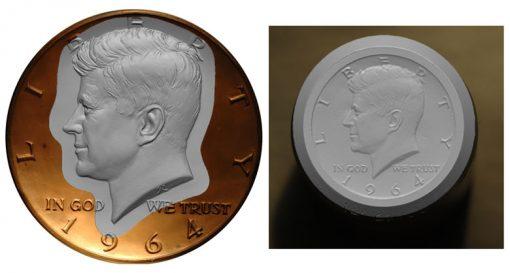 Galvano Bronze and the original 1964 die