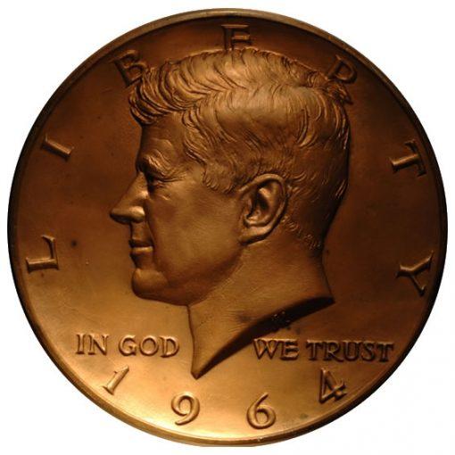 Galvano Bronze of Gilroy Robert's Kennedy Half Dollar Sculpt