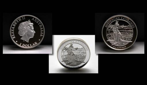 Photos of 2014 Australian Kangaroo High Relief Silver Coin