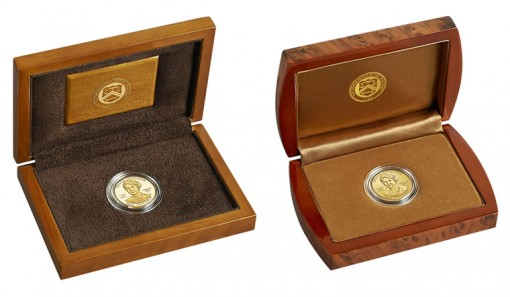 Presentation Cases for Proof and Uncirculated Grace Coolidge First Spouse Gold Coins