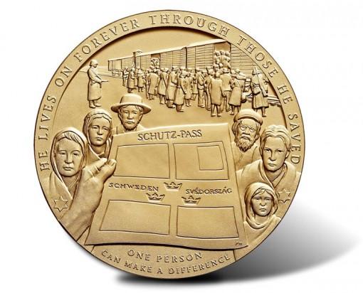 Raoul Wallenberg Bronze Medal - Reverse
