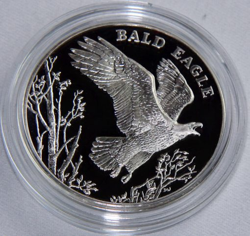 2003 Bald Eagle National Wildlife Refuge System Centennial Silver Medal - Reverse