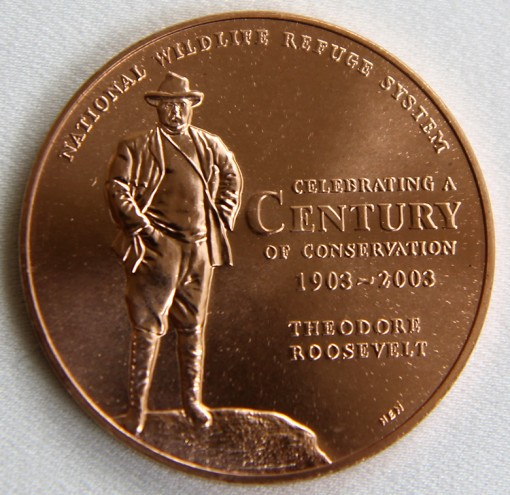 2013 Bald Eagle National Wildlife Refuge System Centennial Bronze Medal - Obverse